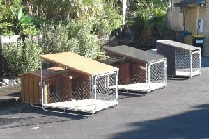 Dog kennels in a range of finishes
