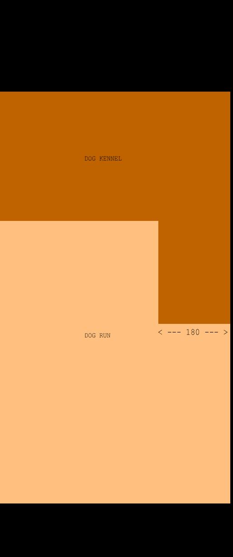 Terracotta dog kennel