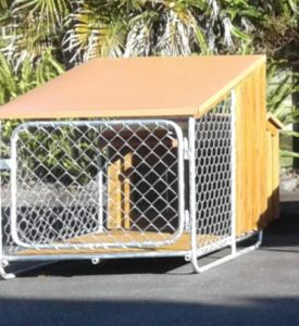 Terracotta dog kennel
